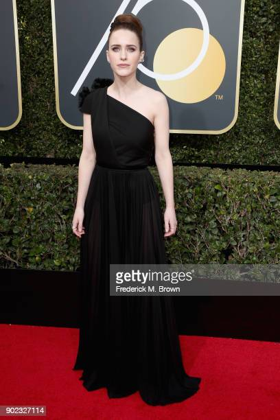 Rachel Brosnahan attends The 75th Annual Golden Globe Awards at The Beverly Hilton Hotel on January 7 2018 in Beverly Hills California