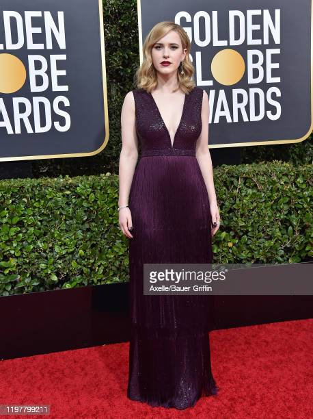 Rachel Brosnahan attends the 77th Annual Golden Globe Awards at The Beverly Hilton Hotel on January 05, 2020 in Beverly Hills, California.
