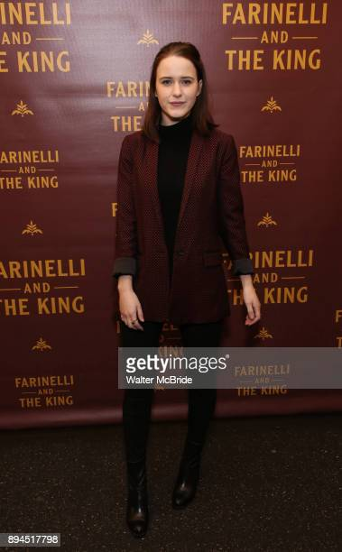 Rachel Brosnahan attends the Broadway opening night performance of 'Farinelli and the King' at The Belasco Theatre on December 17 2017 in New York...