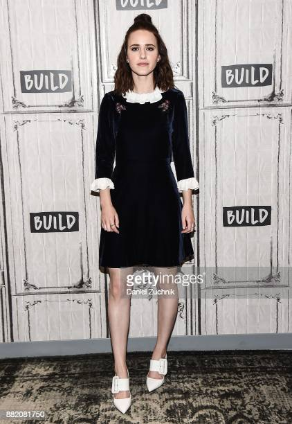 Rachel Brosnahan attends the Build Series to discuss the new film 'The Marvelous Mrs Maisel' at Build Studio on November 29 2017 in New York City