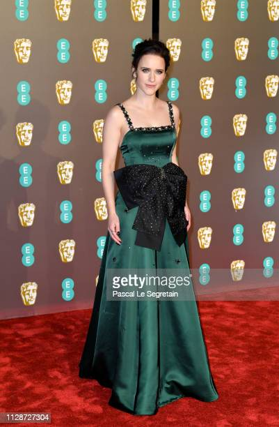 Rachel Brosnahan attends the EE British Academy Film Awards at Royal Albert Hall on February 10 2019 in London England
