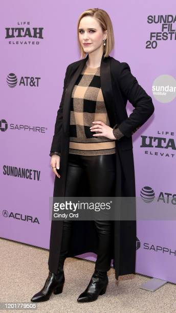 """Rachel Brosnahan attends the """"Ironbark"""" premiere during the 2020 Sundance Film Festival at Eccles Center Theatre on January 24, 2020 in Park City,..."""