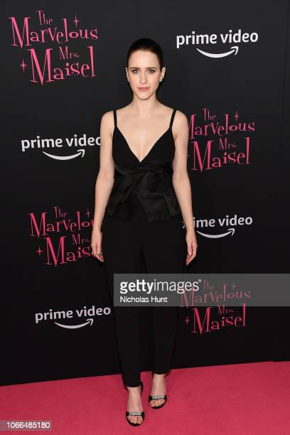 Rachel Brosnahan attends The Marvelous Mrs Maisel New York Premiere at The Paris Theatre on November 29 2018 in New York City