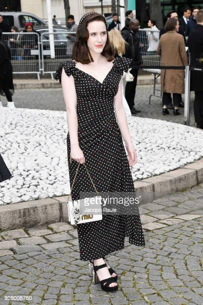 Rachel Brosnahan attends the Miu Miu show as part of the Paris Fashion Week Womenswear Fall/Winter 2018/2019 on March 6 2018 in Paris France