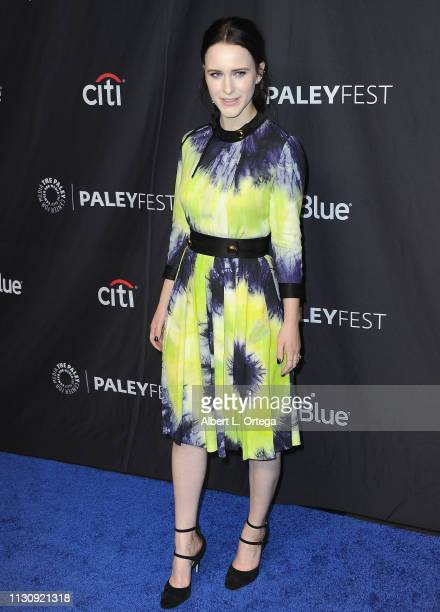 Rachel Brosnahan attends The Paley Center For Media's 2019 PaleyFest LA Opening Night Presentation Amazon Prime Video's The Marvelous Mrs Maisel held...