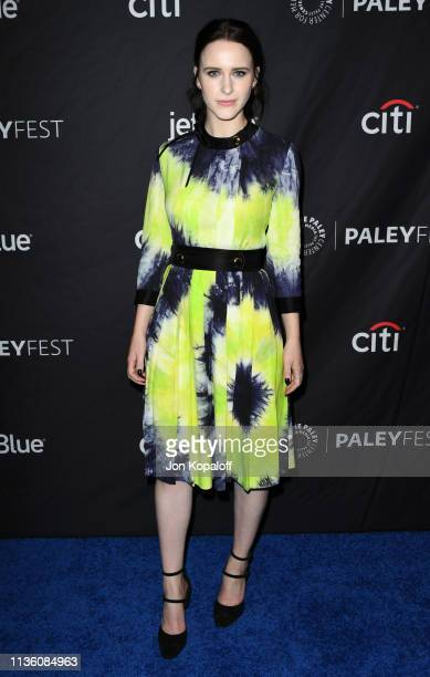 Rachel Brosnahan attends The Paley Center For Media's 2019 PaleyFest LA Opening Night Presentation Amazon Prime Video's The Marvelous Mrs Maisel at...