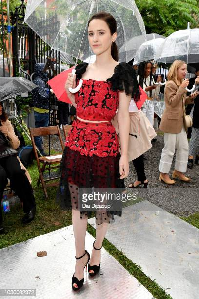 Rachel Brosnahan attends the Rodarte Front Row during New York Fashion Week The Shows on September 9 2018 in New York City