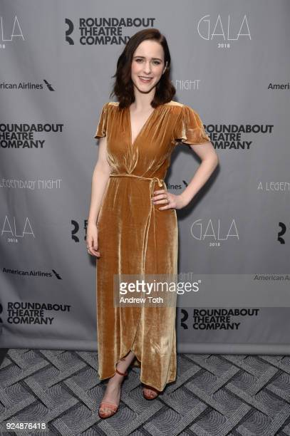 Rachel Brosnahan attends the Roundabout Theatre Company's 2018 Gala at The Ziegfeld Ballroom on February 26 2018 in New York City