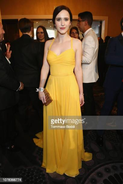 Rachel Brosnahan attends the The Golden Globe Awards Sponsored By Lindt Chocolate on January 6 2019 in Los Angeles California