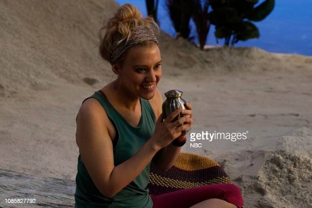 LIVE Rachel Brosnahan Episode 1756 Pictured Kate McKinnon during the Women's Travel Product sketch on Saturday January 19 2019