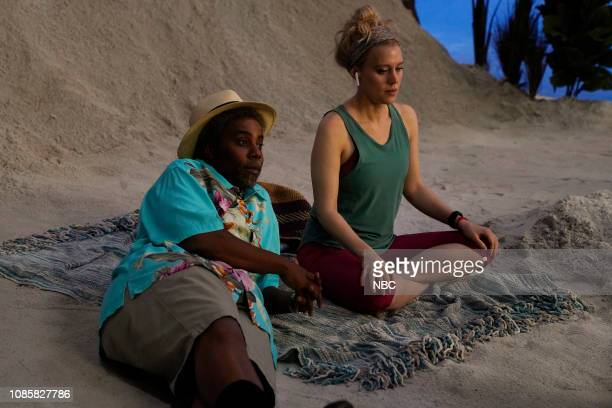 LIVE Rachel Brosnahan Episode 1756 Pictured Kenan Thompson and Kate McKinnon during the Women's Travel Product sketch on Saturday January 19 2019