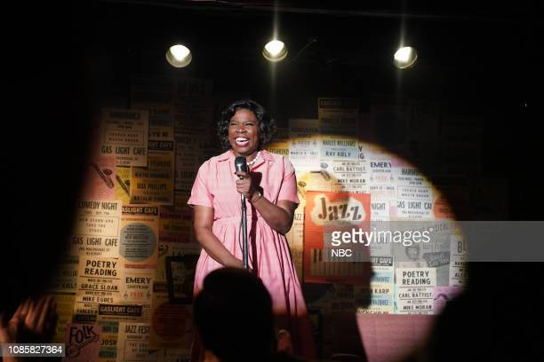 LIVE Rachel Brosnahan Episode 1756 Pictured Leslie Jones as Rita Mae Johnson during the Comedy Club sketch on Saturday January 19 2019