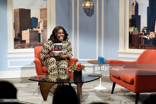 LIVE 'Rachel Brosnahan' Episode 1756 Pictured Leslie Jones as Tabitha during the 'Tabitha' sketch on Saturday January 19 2019
