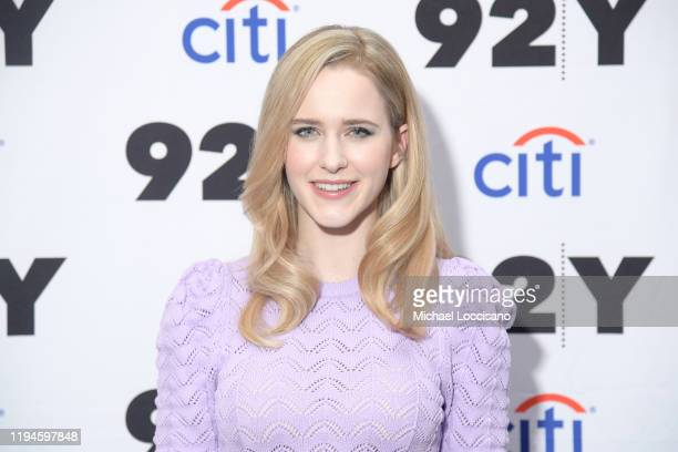 Rachel Brosnahan In Conversation with Jessica Radloff at 92nd Street Y on December 17, 2019 in New York City.