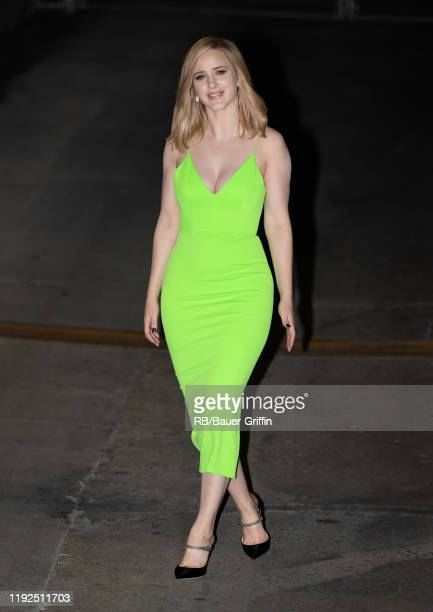 Rachel Brosnahan is seen at 'Jimmy Kimmel Live' on January 07, 2020 in Los Angeles, California.