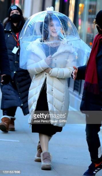 Rachel Brosnahan is seen on March 05, 2021 in New York City.
