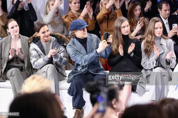 Rachel Brosnahan Katie Holmes David Lauren Lauren Bush Lauren and Hilary Swank attend the Ralph Lauren fashion show during New York Fashion Week The...