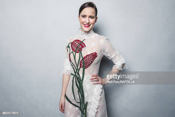 Rachel Brosnahan poses for a portrait at the BAFTA Los Angeles Tea Party on January 6 2018 in Beverly Hills California