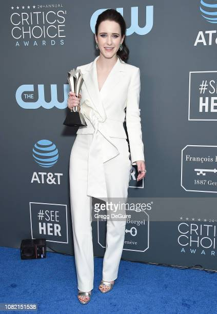 Rachel Brosnahan winner of Best Actress in a Comedy Series award for 'The Marvelous Mrs Maisel' poses in the press room at The 24th Annual Critics'...