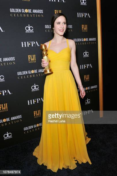 Rachel Brosnahan winner of Best Performance by an Actress in a Television Series Musical or Comedy for 'The Marvelous Mrs Maisel' attends the...