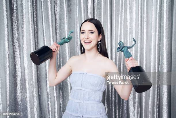 Rachel Brosnahan winner of Outstanding Performance by a Female Actor in a Comedy Series and Outstanding Performance by an Ensemble in a Comedy Series...