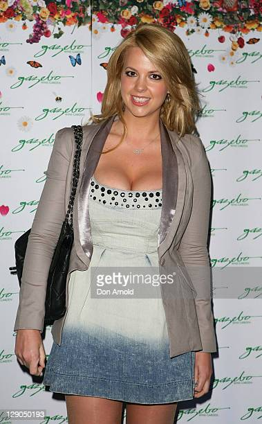 Rachel Burr arrives at Gazebo's 5th birthday celebration at Gazebo Wine Garden on October 12 2011 in Sydney Australia