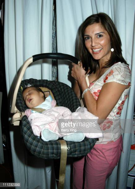 Rachel Campos and daughter Lucia during Elahn Boutique Kicks off Summer Fashion Cocktail Party at Elahn Boutique in Studio City California United...