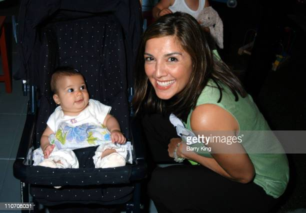 Rachel Campos and daughter Lucia during Sugar Baby Kid's Boutique Store Opening at Sugar Baby in Los Angeles California United States