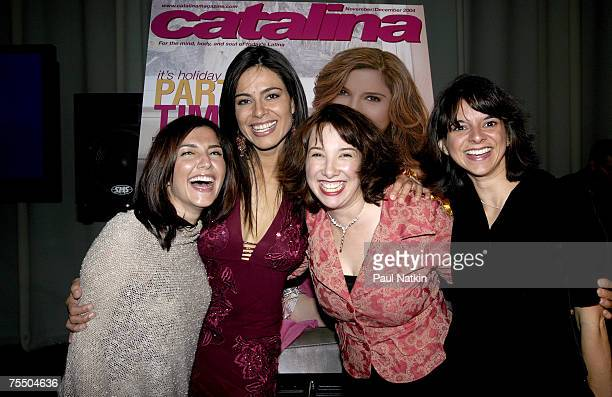 Rachel Campos Estephania LeBaron Patti Vasquez and Cathy Areu publisher of Catalina Magazine at the Union Station in Chicago Illinois