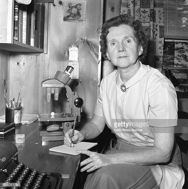 Rachel Carson author of Silent Spring at her summer home in Boothbay Harbor Maine CBS Reports episode The Silent Spring of Rachel Carson originally...