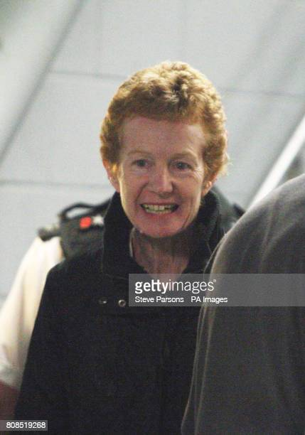 Rachel Chandler 60 from Tunbridge Wells Kent arrive back in the UK at Heathrow Airport after being freed after being held captive by Somali pirates...