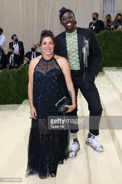"""Rachel Chavkin and Raja Feather Kelly attend the 2021 Met Gala benefit """"In America: A Lexicon of Fashion"""" at Metropolitan Museum of Art on September..."""