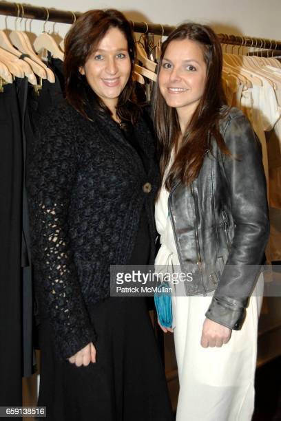 Rachel Chicheportiche and Ludivine attend JEROME DREYFUSS Fall/Winter 2009 Collection at LUDIVINE Uptown at Boutique Ludivine on February 19 2009 in...