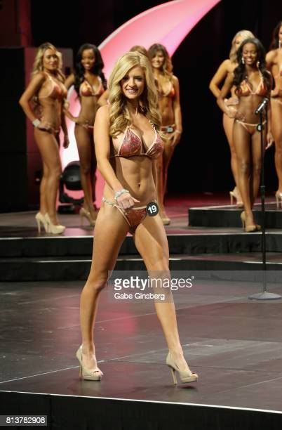 Rachel Cillick of Davenport Iowa competes during the 21st annual Hooters International Swimsuit Pageant at The Pearl concert theater at Palms Casino...