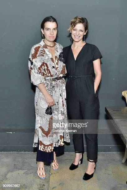 Rachel Comey and Cindi Leive attend Conde Nast The Women March's Dinner Party to Celebrate the One Year Anniversary of the March the Publication of...