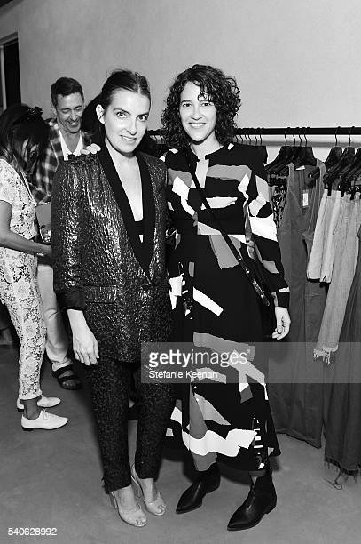 Rachel Comey and Kara Pfaffenbach attend Rachel Comey Los Angeles Store Opening on June 15 2016 in Los Angeles California