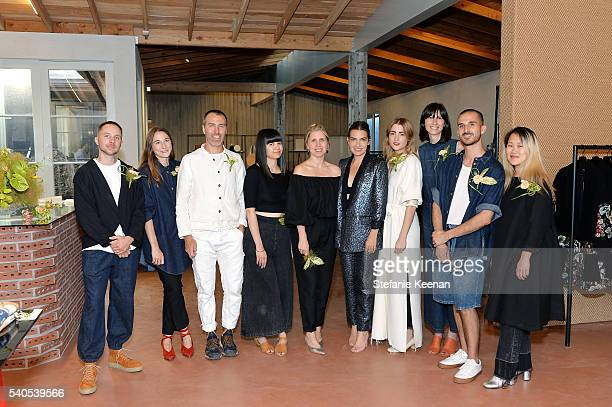 Rachel Comey and team attend Rachel Comey Los Angeles Store Opening on June 15 2016 in Los Angeles California