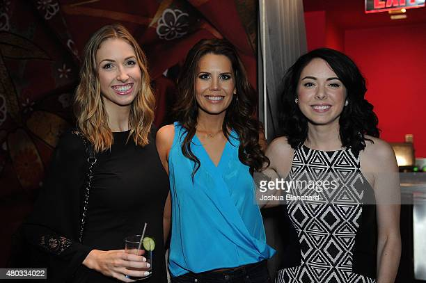 Rachel Cooper Tati Westbrook and Nikki Phillippi attend Birchbox and BeautyCon kick off dinner at Katsuya on July 10 2015 in Los Angeles California