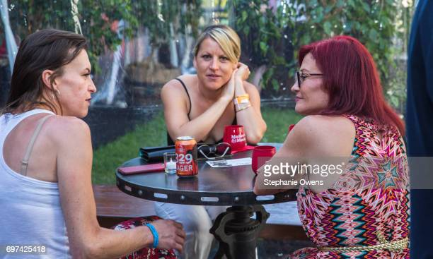 Rachel Crowl Sarah Ivy and Jill Morley attend the Women Filmmakers Event during 2017 Los Angeles Film Festival at Festival Lounge on June 16 2017 in...
