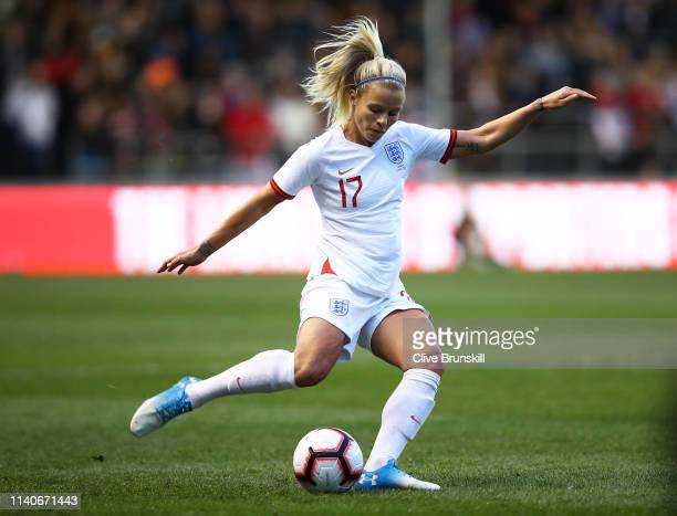 Rachel Daly of England in action during the International Friendly between England Women and Canada Women at The Academy Stadium on April 05, 2019 in...