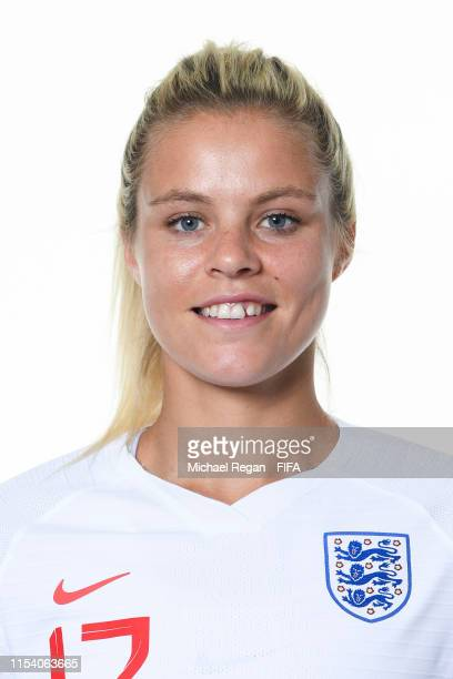 Rachel Daly of England poses for a portrait during the official FIFA Women's World Cup 2019 portrait session at Radisson Blu Hotel Nice on June 06,...