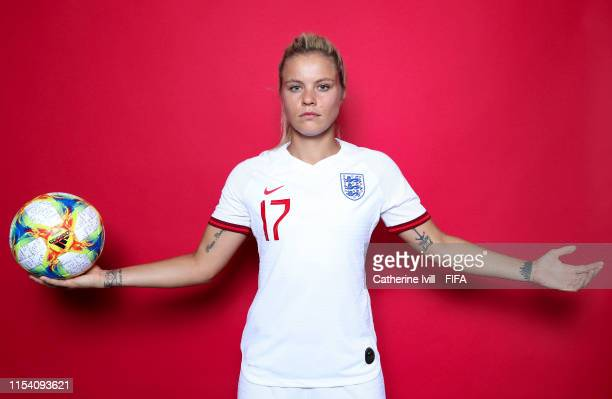 Rachel Daly of England poses for a portrait during the official FIFA Women's World Cup 2019 portrait session at Radisson Blu Hotel Nice on June 06...