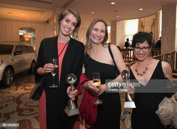 Rachel de Leon Amanda Pike and Jennifer Block attend the 43rd Annual Gracie Awards at the Beverly Wilshire Four Seasons Hotel on May 22 2018 in...