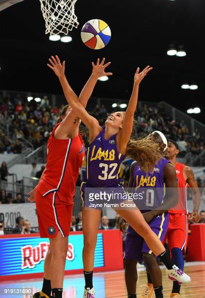 Rachel DeMita plays during the 2018 NBA AllStar Game Celebrity Game at Los Angeles Convention Center on February 16 2018 in Los Angeles California