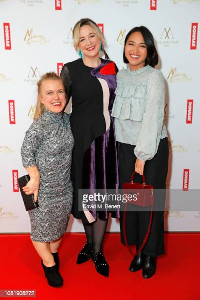 Rachel Denning Josie Rourke and Molly Harris attend a benefit screening hosted by Donmar Warehouse for their Artistic Director Josie Rourke's debut...
