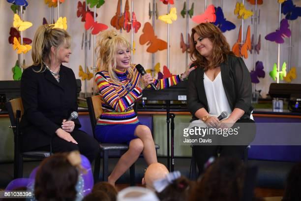 Rachel Dennison Recording Artist Dolly Parton and niece Hannah visit Monroe Carell Jr Vanderbilt Children's Hospital to share music their family's...