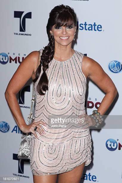 Rachel Diaz arrives at Telemundo's Premios Tu Mundo Awards at Fillmore Miami Beach on August 30 2012 in Miami Beach Florida