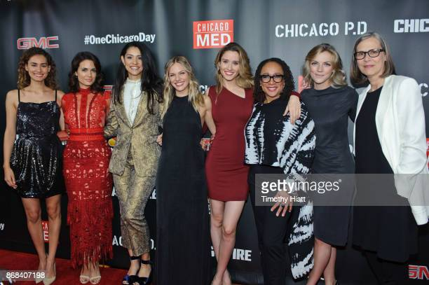 Rachel DiPillo Torey Devitto Miranda Rae Mayo Tracy Spiridakos Norma Kuhling S Epatha Merkerson Kara Killmer and Amy Morton attend the One Chicago...