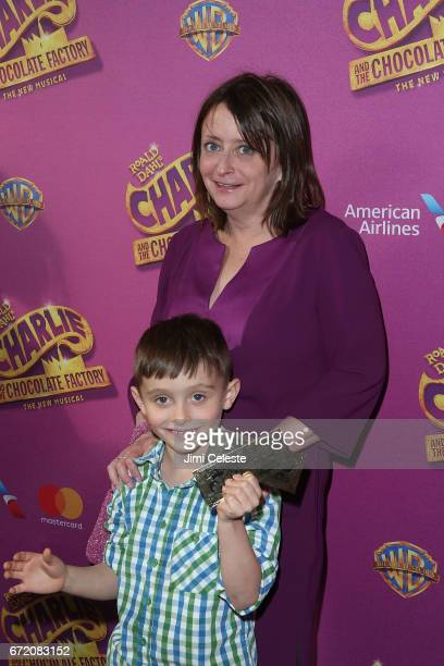 Rachel Dratch and Eli Benjamin Wahl attend the 'Charlie And The Chocolate Factory' Broadway opening night at at LuntFontanne Theatre on April 23 2017...