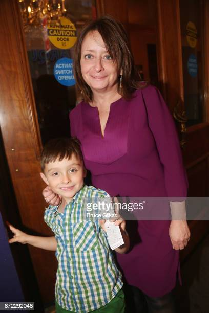 Rachel Dratch and son Eli Benjamin Wahl pose at the opening night of the new musical Charlie and The Chocolate Factory on Broadway at The...
